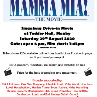 Louth Lions Drive-In Movie - Mamma Mia Singalong!