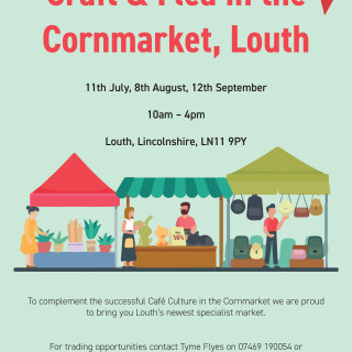 Craft and Flea in the Cornmarket, Louth