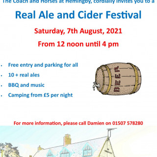 Hemingby Beer and Cider Festival at The Coach & Horses